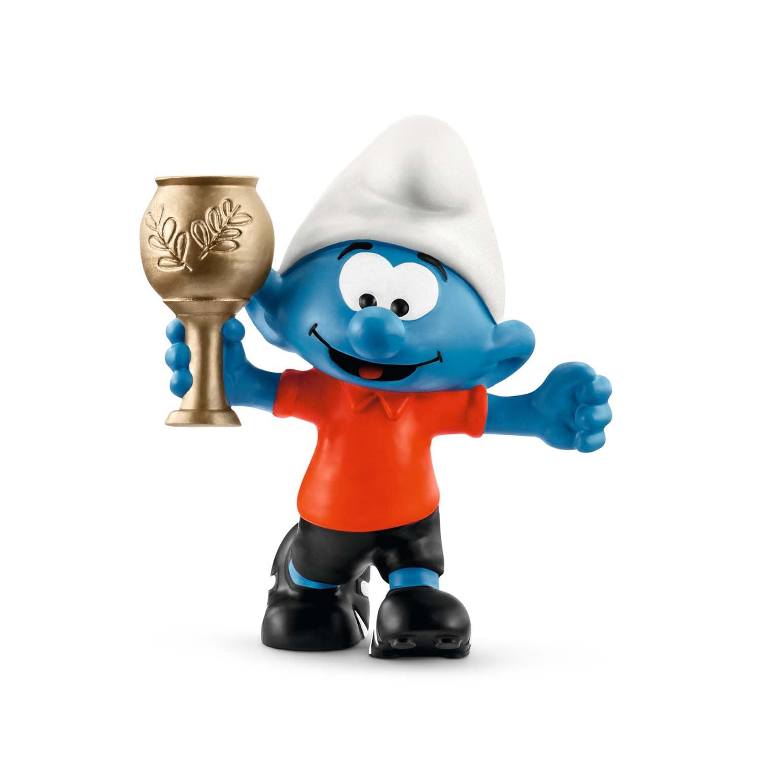 Football Smurf withTrophy