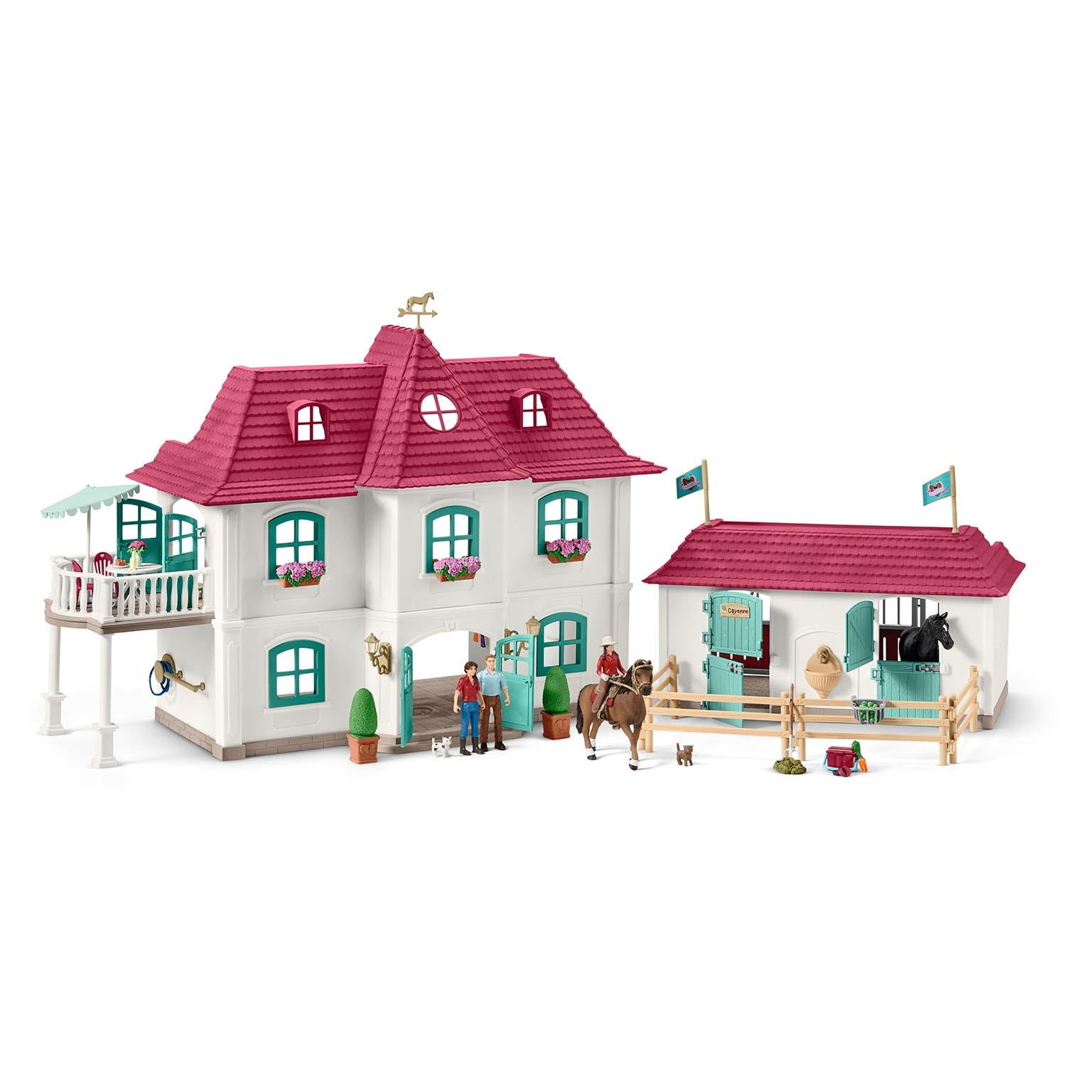 Schleich Large Horse Stable With House And Stable Inōstream Llc