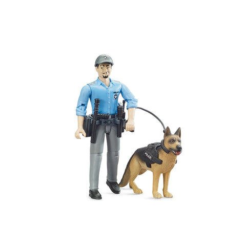 bworld Policeman with dog