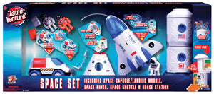 Space Set, 4-in-1 (Capsule, Space Rover, Shuttle, Space Station)