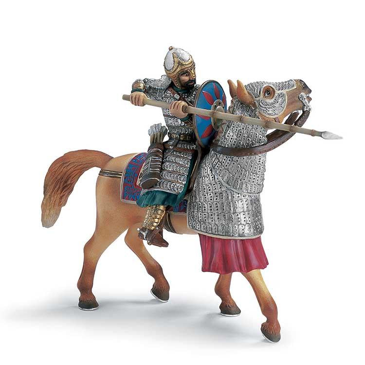 Arabian Soldier with Spike on Horse *EXCLUSIVE*