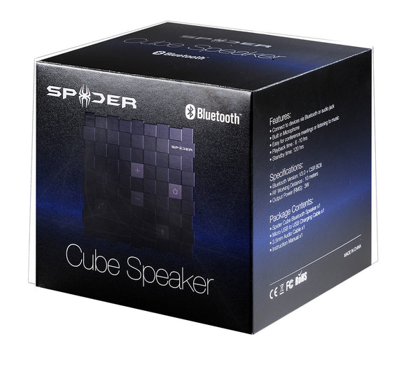 Spider Cube Bluetooth Speaker (black)
