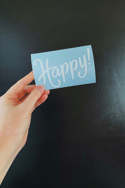 Happy! Decal/Sticker