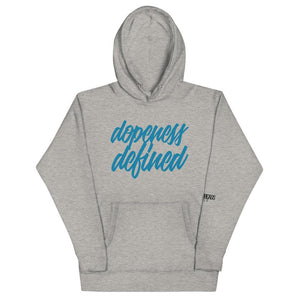 Open image in slideshow, Dopeness Defined Hoodie - Blue - Eighty-Nine Threads