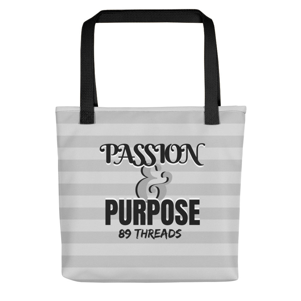 Passion and Purpose Tote - Grey
