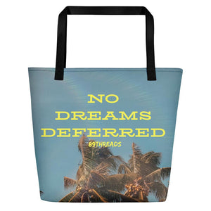 No Dreams Deferred Large Tote - Summer Palm - Eighty-Nine Threads