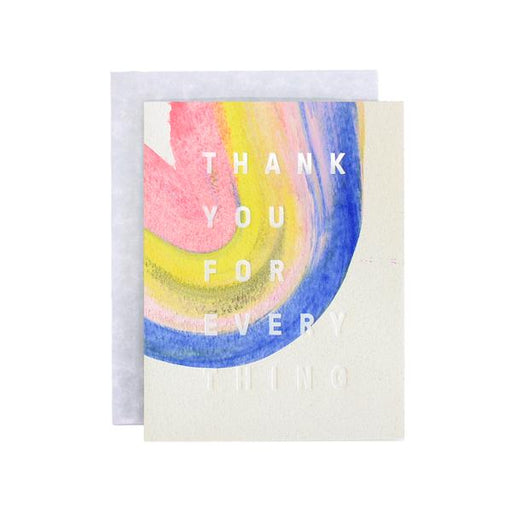 Moglea Greeting Cards - Rainbow Thank You