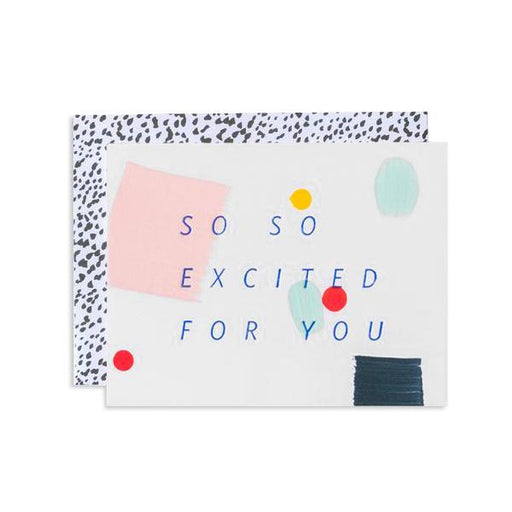Moglea Greeting Cards - So So Excited