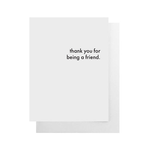 Health Hut Toronto - Cult Paper - Thank You For Being A Friend Card