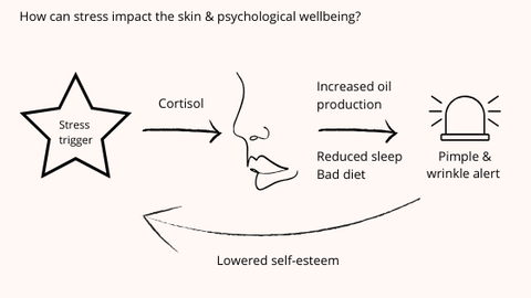 stress wellbeing psychology mental health stress and skin