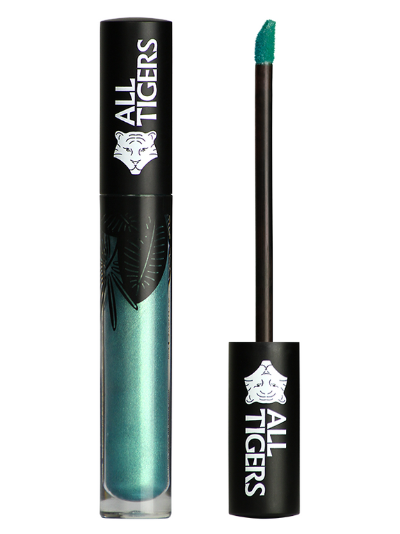 Shimmering lipstick 2-in-1 989 METAL GREEN 'STEAL THE SHOW'