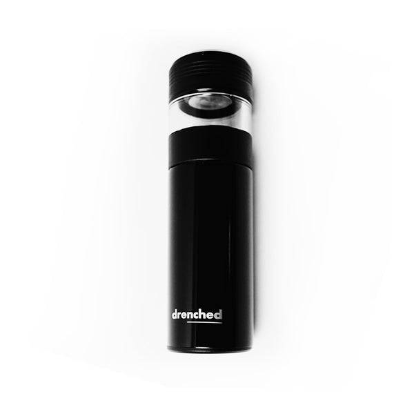 drenched Reusable Smart Infuser Bottle -  Satin limited Edition in Black & White