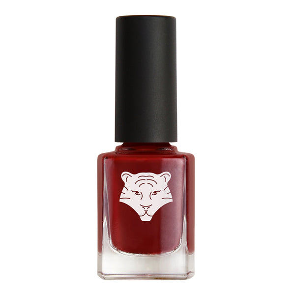 All Tigers Natural & Vegan Nail Lacquer: 207 Burgundy Red