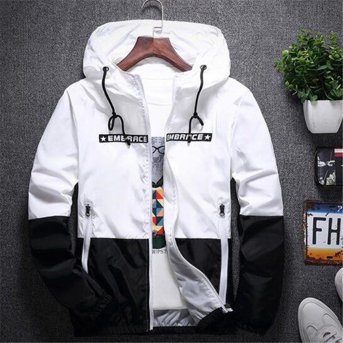 Casual Autumn Bomber Hooded Jacket For Men - Shoppingsportorg