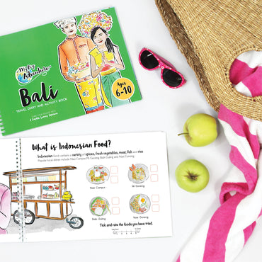 Bali Travel Diary and Activity Book - Includes Fun, Interactive and Educational Video Content (6-10)