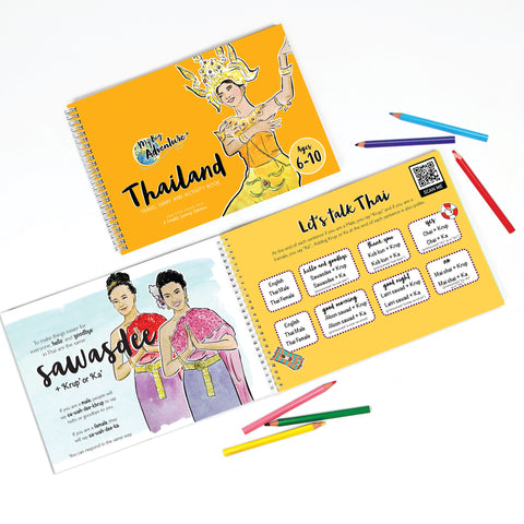 Thailand Travel Diary and Activity Book - Includes Fun, Interactive and Educational Video Content (6 - 10)