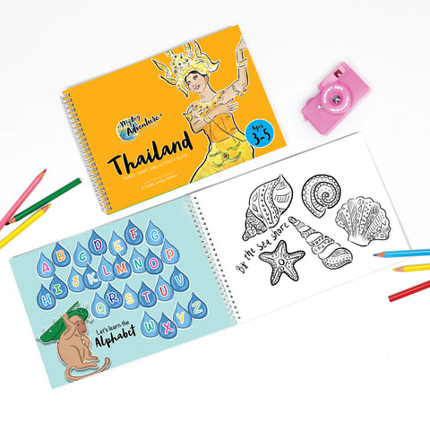Thailand Travel Diary and Activity Book - Includes Fun, Interactive and Educational Video Content (3 - 5)