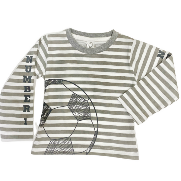 Grey Color Cotton Full Sleeve Tshirt