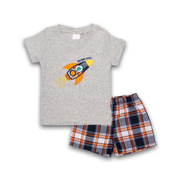 T-shirt set for Kids Boys in Gray Color with print Design