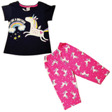 Pink and Black Soft Cotton Dresses Set for Baby Girl