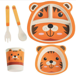 Bamboo Fiber Orange Color Table Set