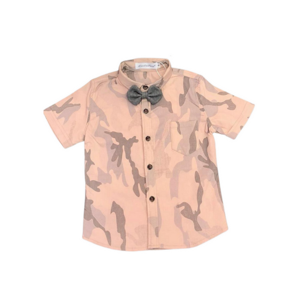 Pink Color Cotton Printed Shirt for Boys