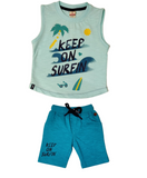 Sleeveless Cotton Casual Wear set For Boys