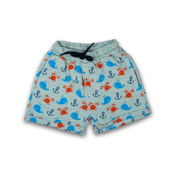 Shorts for Kids Boys Grey Color Cotton Material