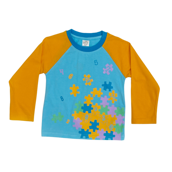 Blue Full Sleeve T shirt For Boy