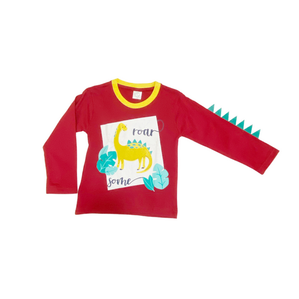 Red Cotton T shirt for Baby Boy