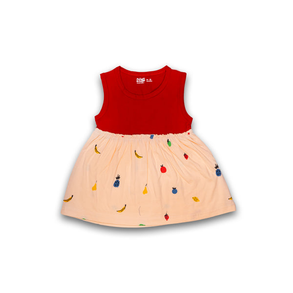 Cotton Frock for baby Girl Pink color with Print Design