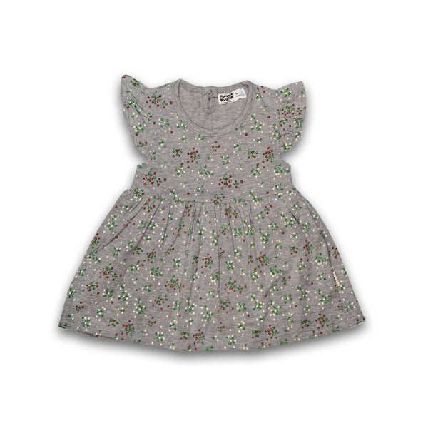 Cotton Frock for baby Girl Grey color with Print Design