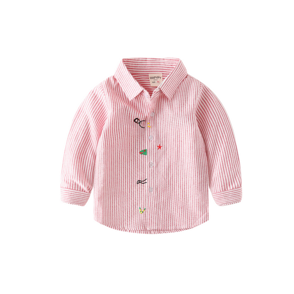 Full Sleeve Cotton Shirt for boys - Pink Color