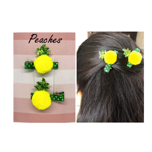 Yellow and Green Designer hair Clip for baby Girl
