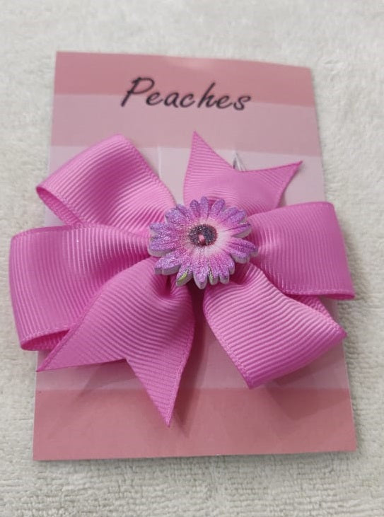 Pink Party Dresses Hair Clip for Baby Girl