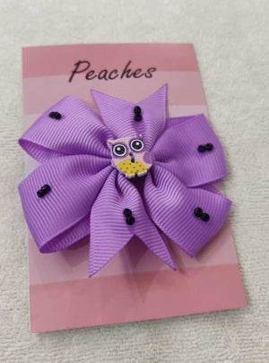 Purple Color Party Dresses Hair Clip for Baby Girl
