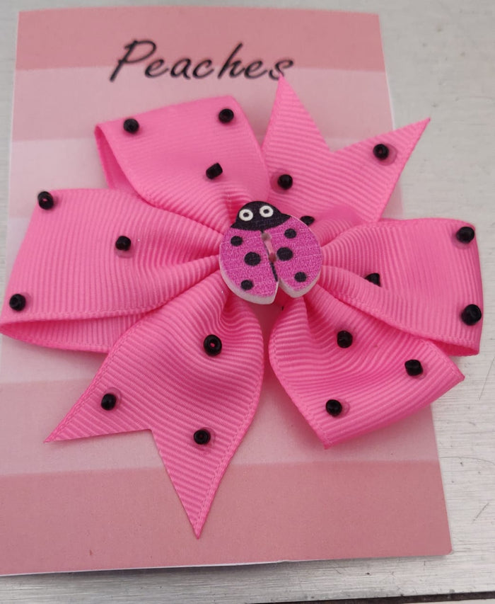 Pink Color Party Dresses Hair Clip for Baby Girl