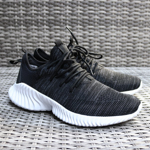 Men Black Gym Running Lace Up Boost Trainers
