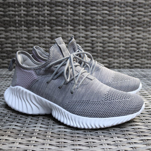Mens Grey Gym Running Lace Up Boost Trainers