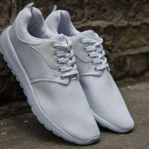 Mens Mesh White Running Gym Outdoor Lace Up Trainers
