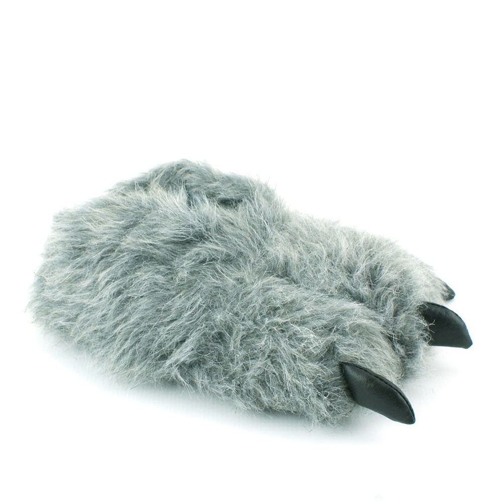 Animal Grey Claw Design Novelty Warm Indoor Snug Slippers