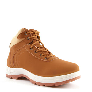Mens Honey Tan Hiking Ankle Lace Up Boots