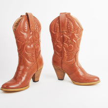 Load image into Gallery viewer, Alison Tan Cowboy Calf Boots