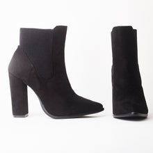 Load image into Gallery viewer, Ashlen Black Heeled Ankle Boots