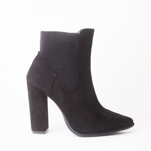 Ashlen Black Heeled Ankle Boots