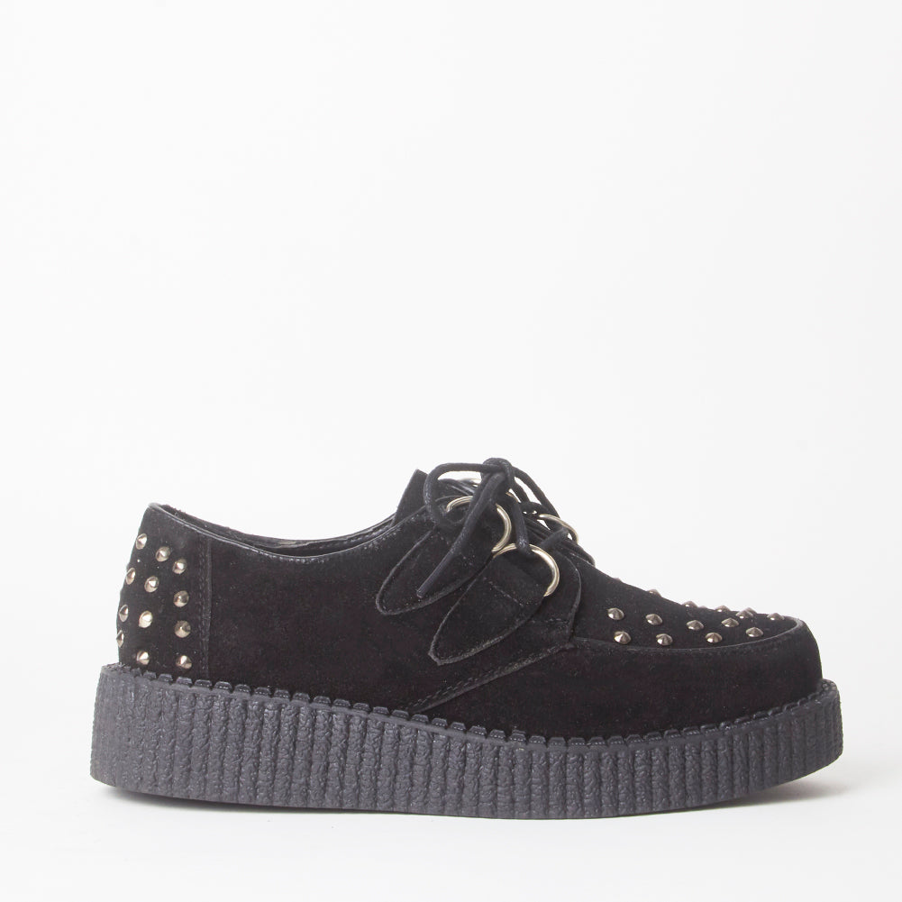 Avril Black Stud Creeper Platforms