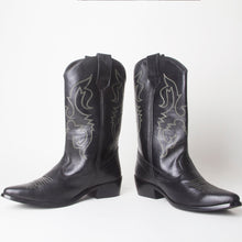 Load image into Gallery viewer, Carrie Black Western Cowboy Knee High Boots