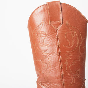 Carrie Tan Western Cowboy Knee High Boots