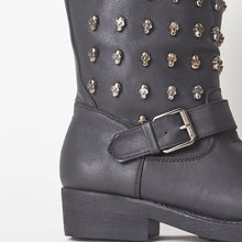 Load image into Gallery viewer, Charley Skull Stud Biker Boots
