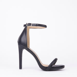Chloe Black Barely There Strappy Heels